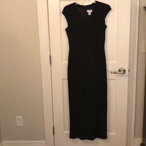 Classic black form fitting long dress